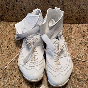Men's White Leather High Top Sneaker